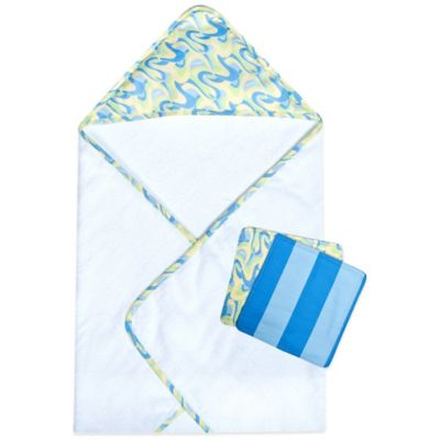 "Trend Lab® 3-Piece Dr. Seuss™ ""Places You'll Go!"" Hooded Towel and Washcloth Set in Blue"