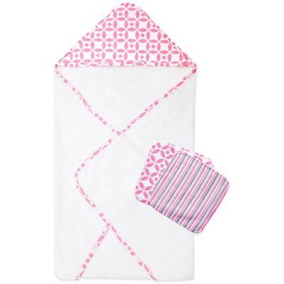 Trend Lab® 3-Piece Lilly Hooded Towel and Washcloth Set