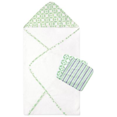 Trend Lab® 3-Piece Lauren Hooded Towel and Washcloth Set