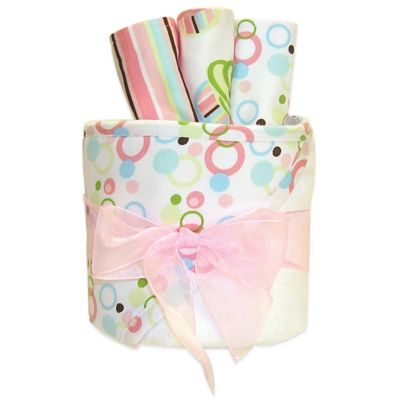 Trend Lab® 4-Piece Cupcake Hooded Towel and Washcloth Gift Cake