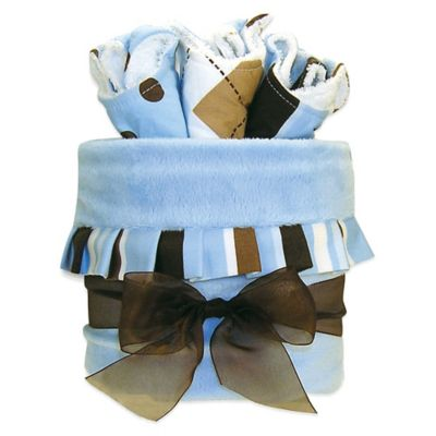 Trend Lab® 4-Piece Max Stripe Blanket and Bib Gift Cake
