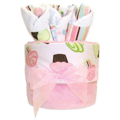 Trend Lab® 4-Piece Cupcake Blanket and Bib Gift Cake