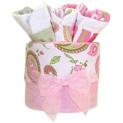 Trend Lab® 4-Piece Paisley Blanket and Bib Gift Cake