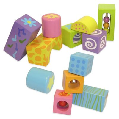 Boikido® 12-Piece Wooden Musical Blocks Set