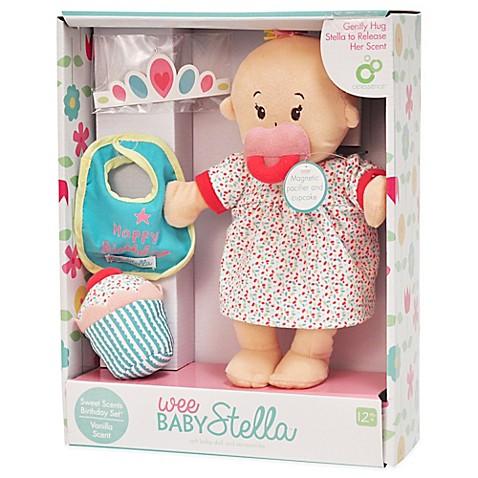 Manhattan Toy 174 Wee Baby Stella Happy Birthday Doll Set