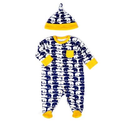 Offspring Size 3M 2-Piece Elephant Footie and Hat Set