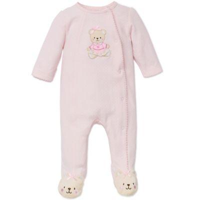 Little Me® Newborn Sweet Bear Footie in Pink
