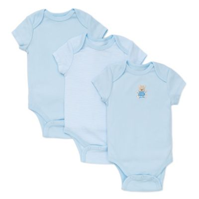 Little Me® Newborn 3-Pack Cute Bear Bodysuits in Blue