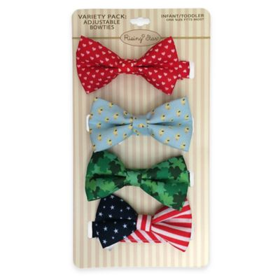 Rising Star Infant/Toddler 4-Pack Spring Holiday Bowtie Set