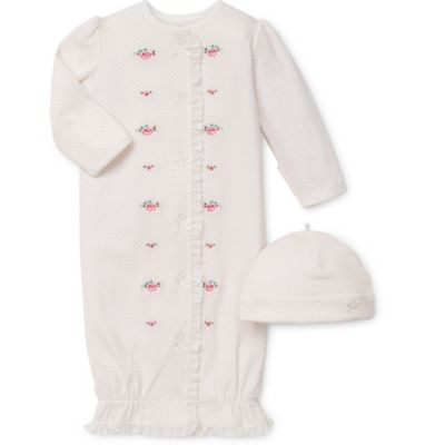 Little Me® Size 0-3M 2-Piece Graceful Roses Gown and Hat Set