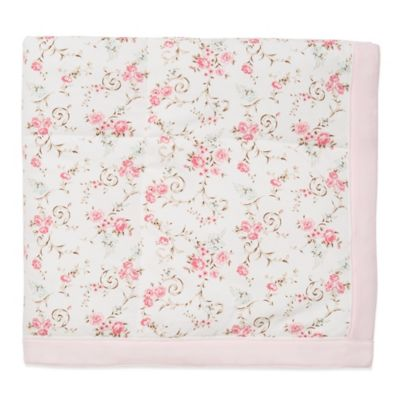 Little Me® Graceful Roses Blanket in Rose/Ivory