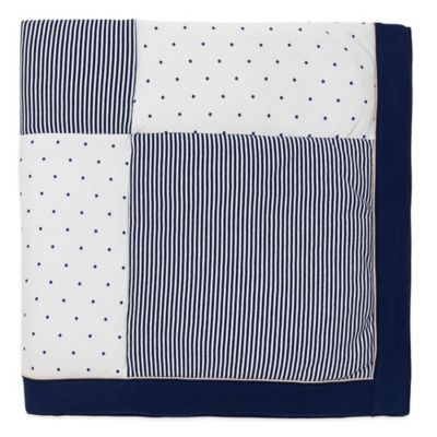 Little Me® Stars and Stripes Blanket in Navy/Ivory
