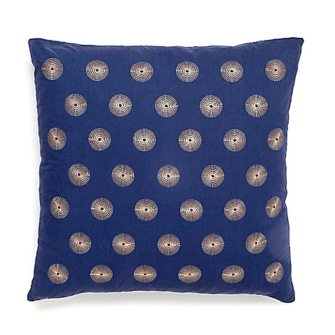 Modern Living Cirrius Square Throw Pillow in Navy - Bed Bath & Beyond