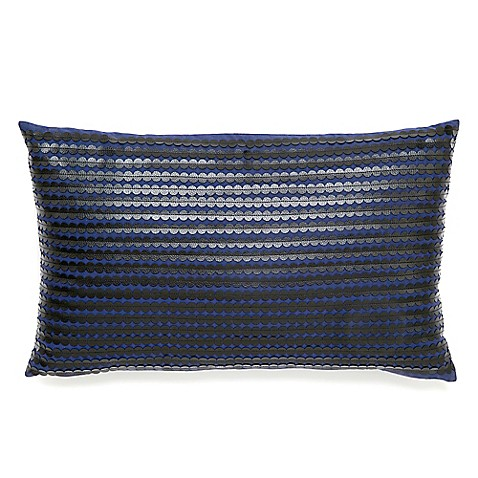 Buy Modern Living Cirrius Oblong Throw Pillow in Navy from Bed Bath & Beyond