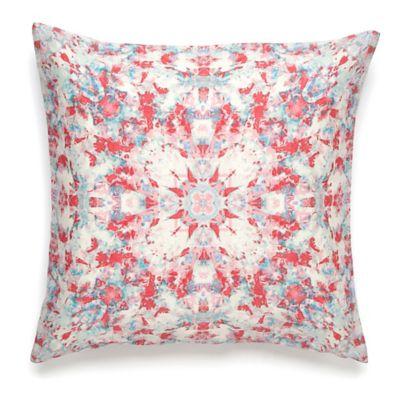 Amy Sia Painterly Kaleidoscope Square Throw Pillow