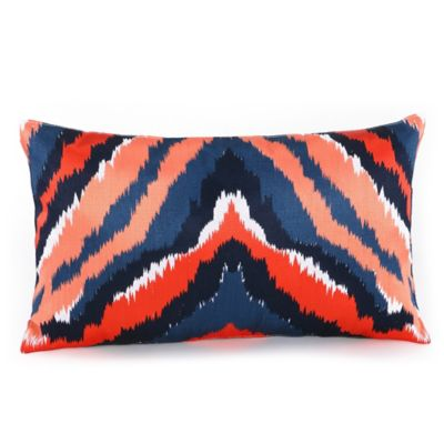 Trina Turk® Indigo Ikat Dyed Stripe Oblong Throw Pillow