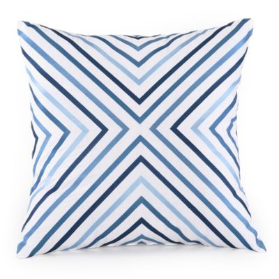 Trina Turk Blue Square Pillow