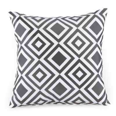 Trina Turk® Giraffe Merced Diamond Square Throw Pillow in Grey