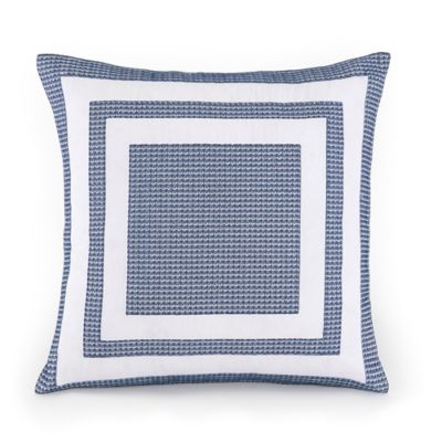 Pacifica Pier Lattice Square Throw Pillow