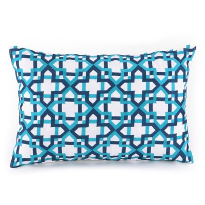 Trina Turk Blue Oblong Pillow