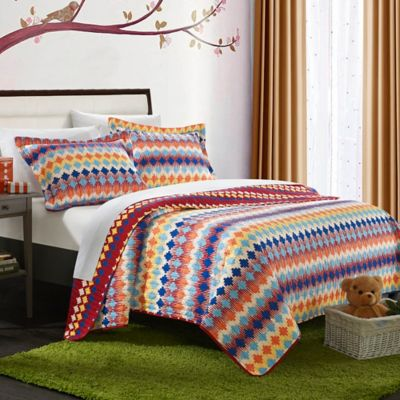Chic Home Sierra 2-Piece Reversible Twin Quilt Set in Multi