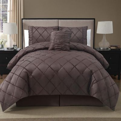 Santiago 4-Piece Queen Comforter Set in Burgundy