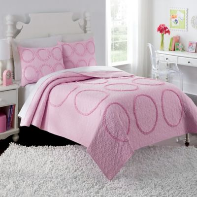 Charlotte Twin Quilt Set in Pink