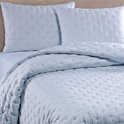 Vera Wang™ Luster Standard Pillow Sham in Aquamarine