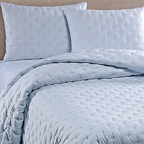 Buy Vera Wang Luster King Quilt In Aquamarine From Bed