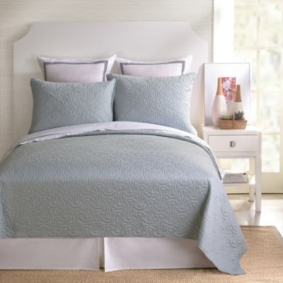 Trina Turk® Santorini Twin Coverlet in Grey