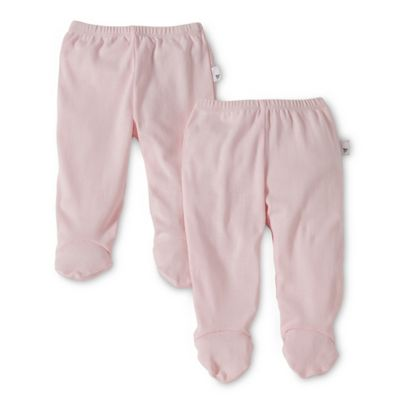 Burt's Bees Baby™ Size 3-6M 2-Pack Organic Cotton Footed Pants in Pink