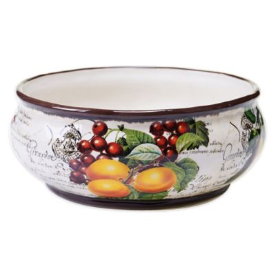 Certified International Botanical Fruit Deep Bowl