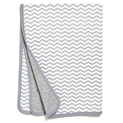 SKIP*HOP® Chevron Stripe Welcome Blanket in Grey