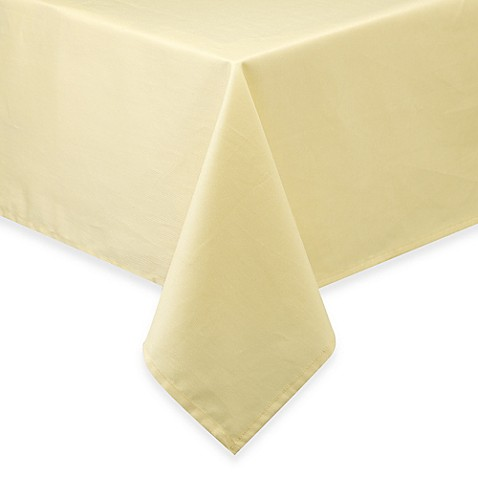 Buy newport 60 inch x 120 inch tablecloth in yellow from for Tablecloth 52 x 120