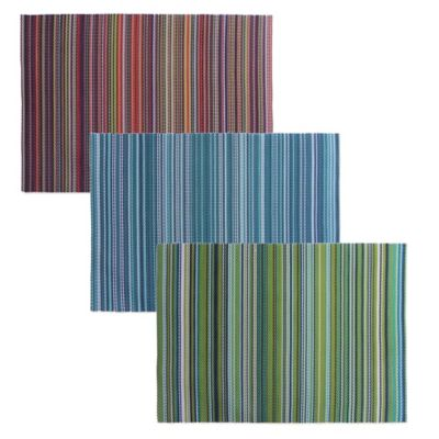 California Stripe Easy Care Placemat in Green/Teal