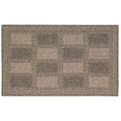 Nourison Grid 2-Foot 6-Inch x 4-Foot Kitchen Rug in Grey