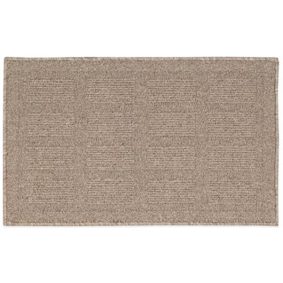 Nourison Grid 2-Foot 6-Inch x 4-Foot Kitchen Rug in Taupe