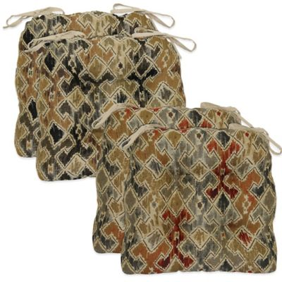 Waterfall Chair Pad in Rust (Set of 2)