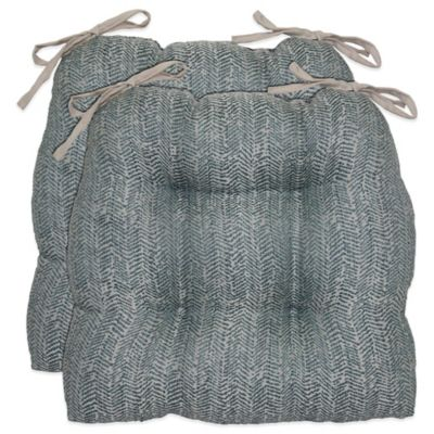 Leary Waterfall Chair Pad in Blue
