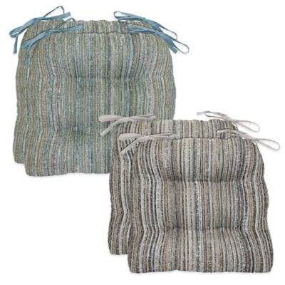 Waterfall Cornerstone Chair Pads in Blue (Set of 2)