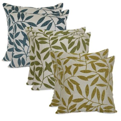 Waterfall Tree Pillows in Caribbean Blue (Set of 2)