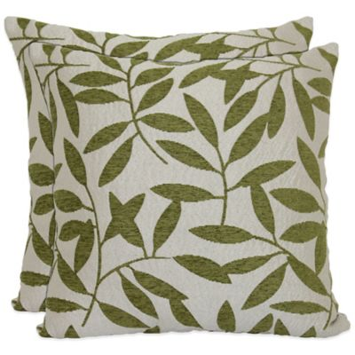 Waterfall Tree Pillows in Lime (Set of 2)
