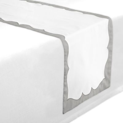 Waterford® Linens Cassia 70-Inch Table Runner in White/Blue