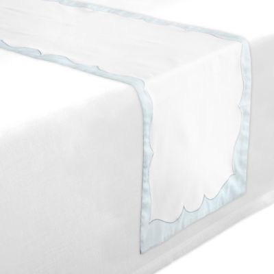 Waterford® Linens Cassia 90-Inch Table Runner in White/Blue