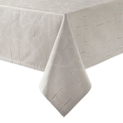 Waterford® Linens Marilla 70-Inch x 84-Inch Oblong Tablecloth in Dove