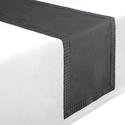 Waterford® Linens Rigato 70-Inch Table Runner in Charcoal