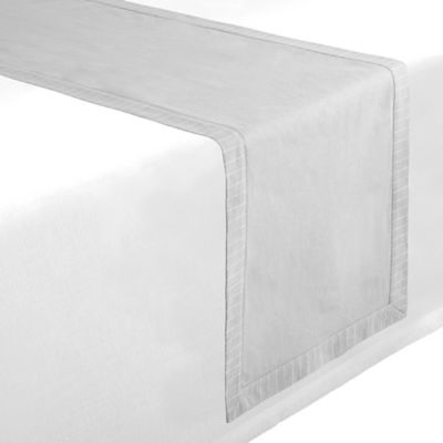 Waterford® Linens Rigato 90-Inch Table Runner in Platinum
