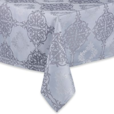 Waterford® Linens Valentina 52-Inch x 70-Inch Oblong Tablecloth in Sky Blue