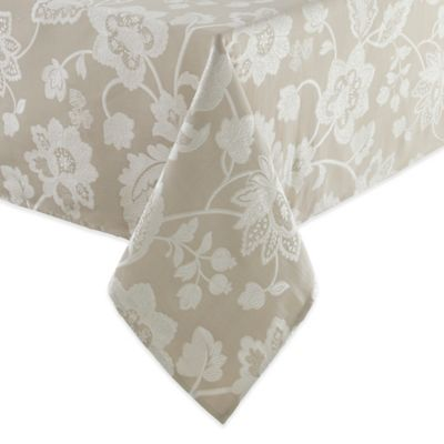 Waterford® Linens Adelisa 52-Inch x 70-Inch Tablecloth in Beige