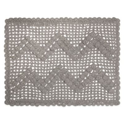 Heritage Lace® Blue Ribbon Crochet Placemat in Grey